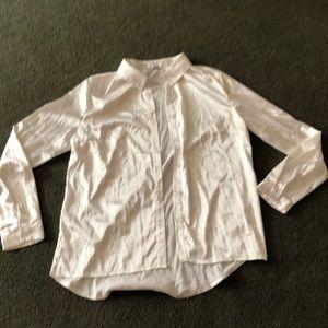 White Silk Button up shirt